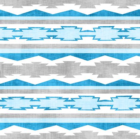 Blue Southwestern Geometric Stripe