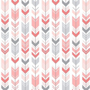 mod baby » herringbone arrows coral