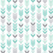 mod baby » herringbone arrows mint