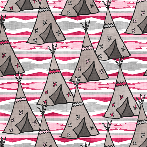 Pink Southwestern Teepees