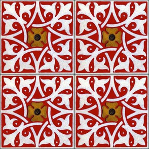 Medieval Tile ~ Turkey Red
