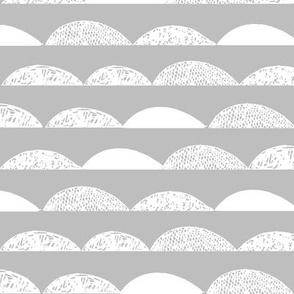 Scallop - Slate Gray by Andrea Lauren