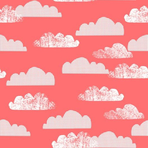 Clouds - Medium Pink by Andrea Lauren