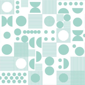 Dots -  Pale Turquoise by Andrea Lauren