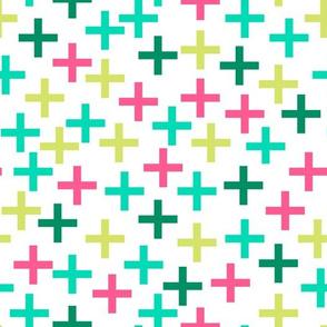Swiss Cross - Plus - Tropical Colors by Andrea Lauren