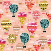 Hot Air Balloons - Vintage and Retro-Inspired Flying Machines by Andrea Lauren