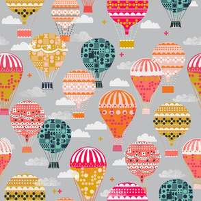 Hot Air Balloons - Vintage and Retro- Inspired Flying Machines by Andrea Lauren