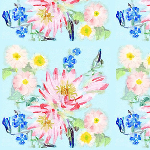 Watercolor Pastel Floral