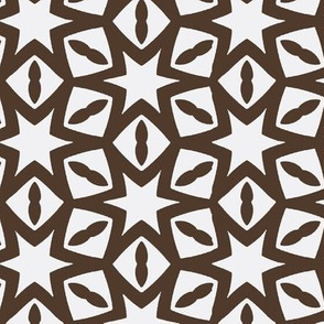 Six Pointed Stars in Dark Brown
