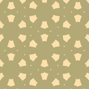 Abstract Circles in Tan and Green