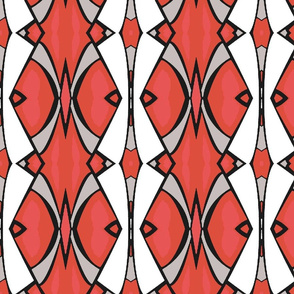 Abstract Vertical in Pink, Red and White