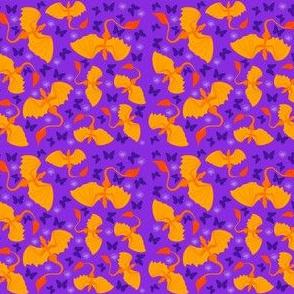 ditsy orange dragons