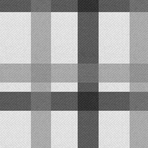 Larger - Retro Plaid Light Grey - Rotated