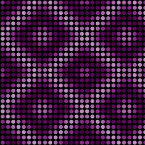 Violet magenta polka dots with diamond shapes.