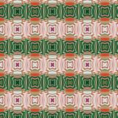 Orange, Green and White