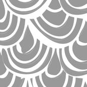 monochrome scallop scales