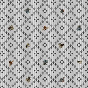 Vintage Busy Bee Grey Colours Small