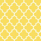 quatrefoil LG butter yellow