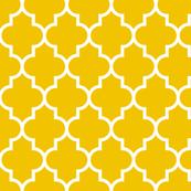 quatrefoil LG mustard