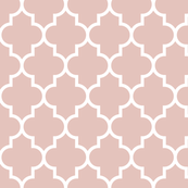 quatrefoil LG dusty pink