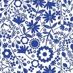 Wildflowers in Blue