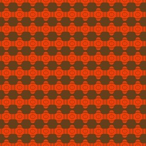 Beads Brown Orange Circles