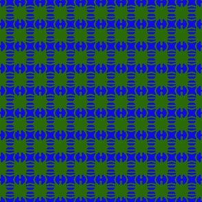 Bead Squares Blue Green