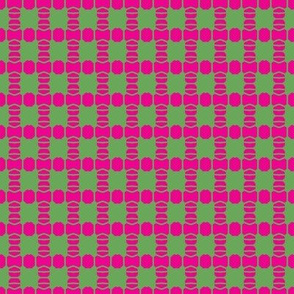Bead Squares Pink Green