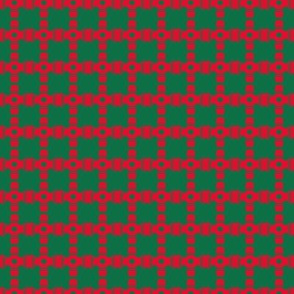 Bead Squares Red Green Circles