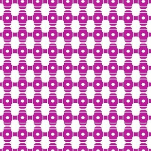 Beads Purple White Circles