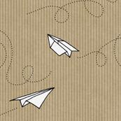 Paper Planes (on Kraft paper)