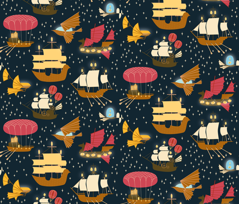 Across the universe fabric ceciliamok spoonflower for Universe fabric
