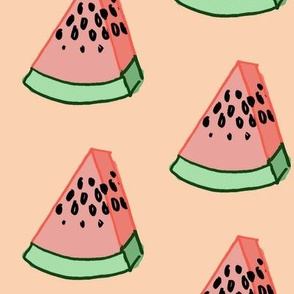 Vandmelon stykke