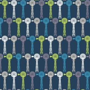 Breezy Windmills - Navy