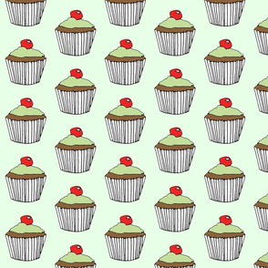 Grasshopper Cupcake