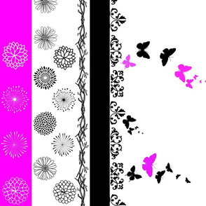 Butterfly floral border