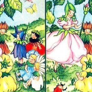 fairy fairies queens princesses flowers elf elves pixies children roses bluebells daisy daisies ladybugs ladybirds butterfly butterflies fairy tales