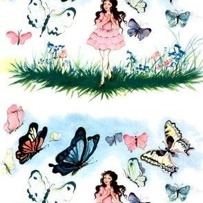 ballerinas ballet dance dancers dancing girls children butterfly butterflies