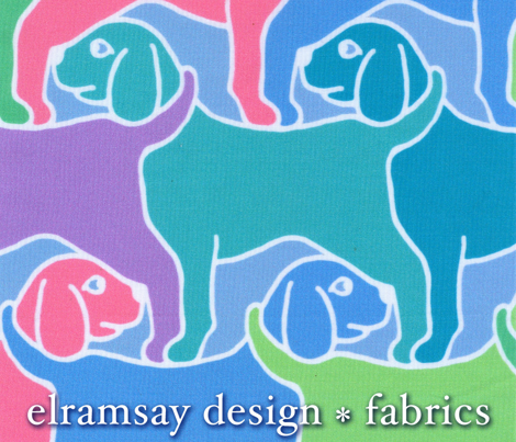 Rainbow Dogs with White Border