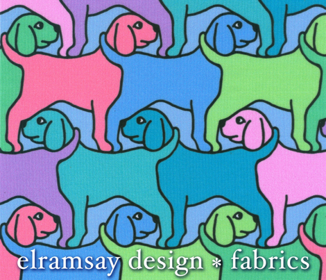 Rainbow Dogs with Border - Smaller