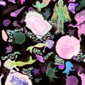 cthulhu fabric (pinks)