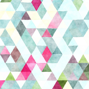 Raspberry Lemonade Watercolor Triangles