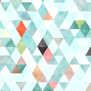 Icecaps Watercolor Triangles