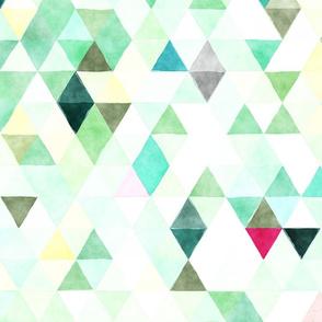 Crystals Watercolor Triangles