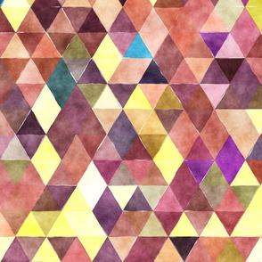 Spring Garden Watercolor Triangles