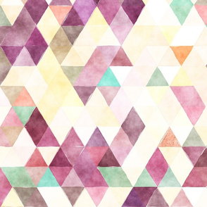 Plum Pudding Watercolor Triangles
