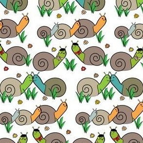 snails in the garden