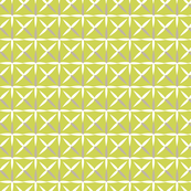 raindrop quilt chartreuse&white (grey)