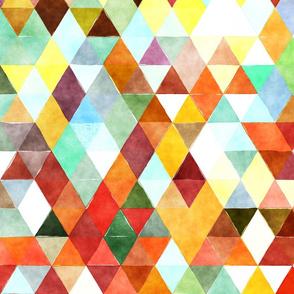 Orange Juice Watercolor Triangles
