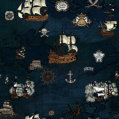 Pirate Ships Map Navy Big Repeat